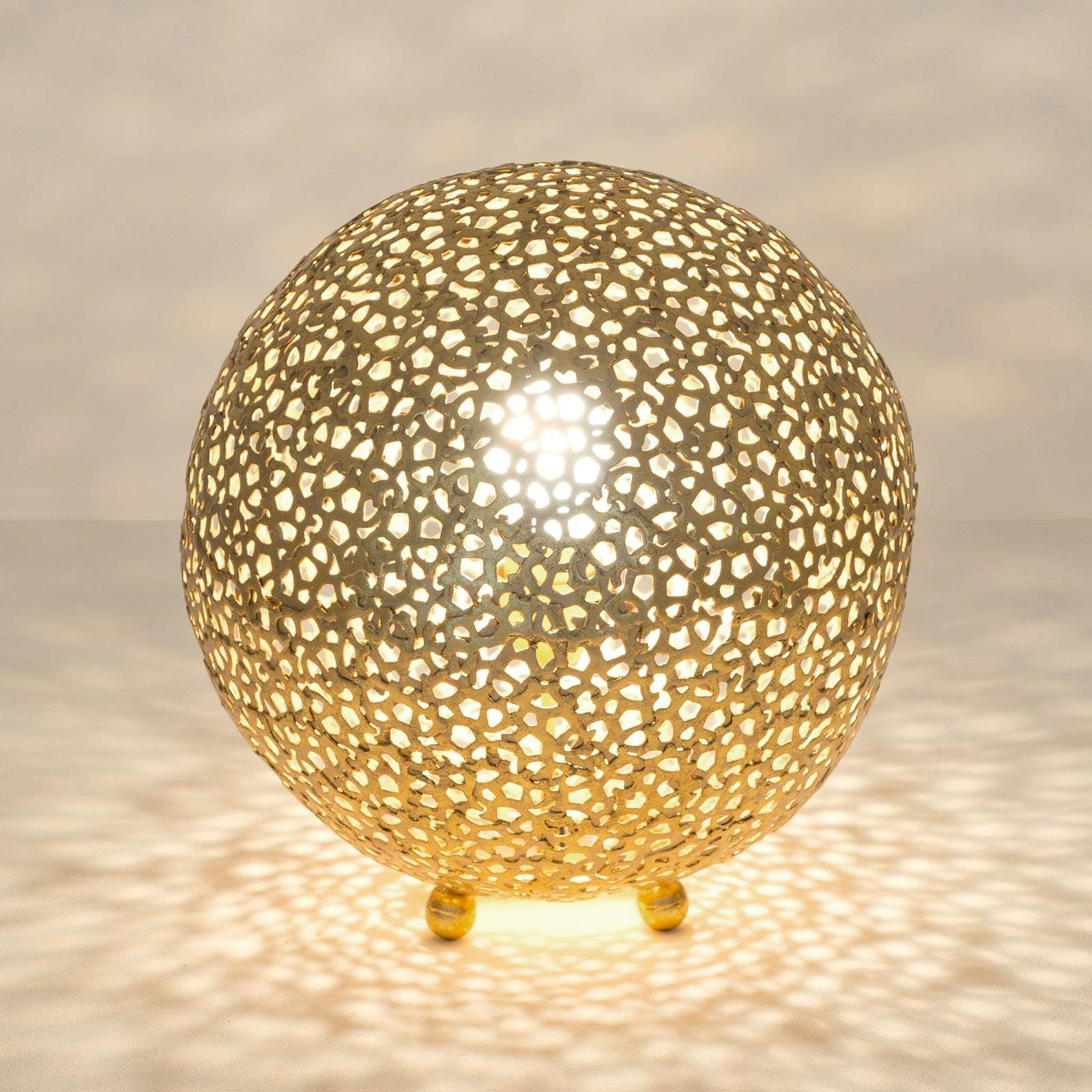 Bordlampe Lily Piccolo, Ø 33 cm, gull
