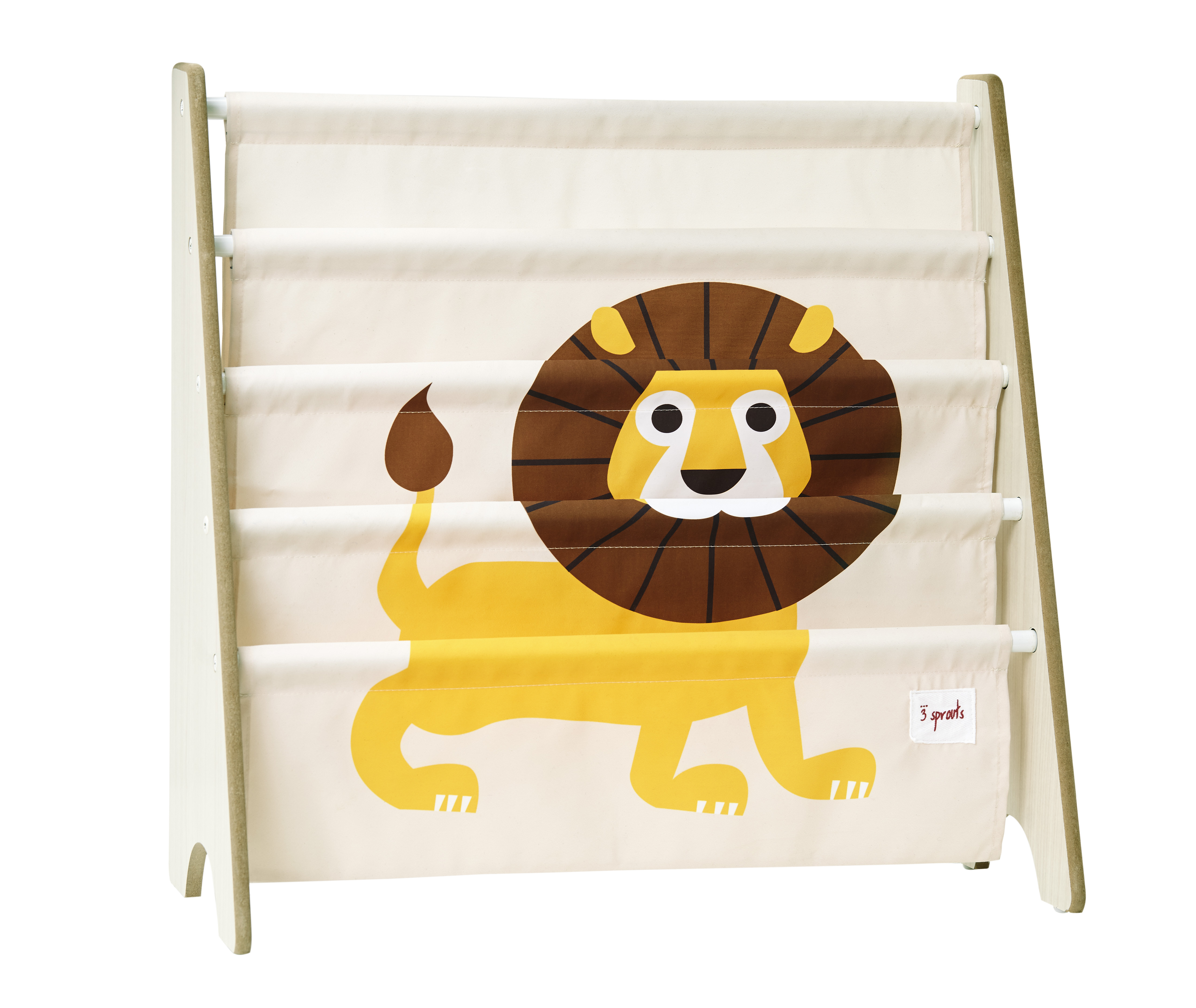 3 Sprouts - Book Rack - Yellow Lion