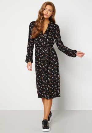 Happy Holly Milly midi dress Black / Floral 48/50