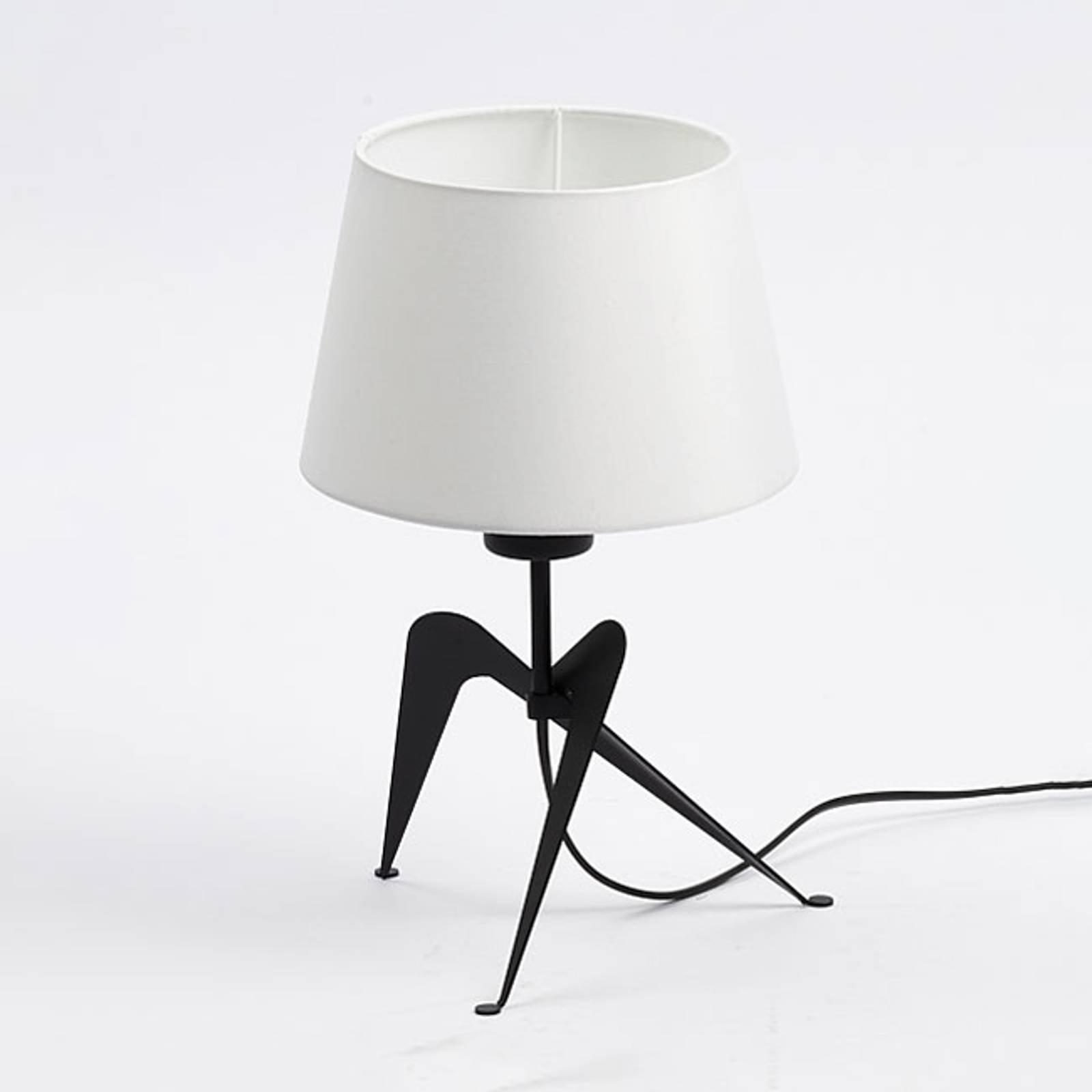 Lola bordlampe med stoffskjerm, svart-hvitt