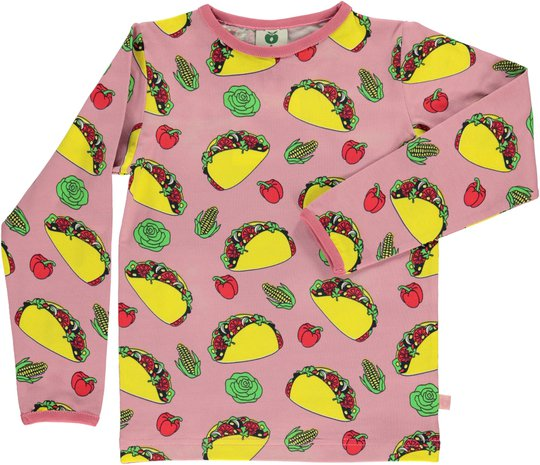 Småfolk Taco T-Shirt, Blush 1-2år