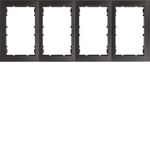 Hager 6510141606 Yhdistelmäkehys pistorasialle 2-suuntainen 295 mm leveä, 294 mm korkea