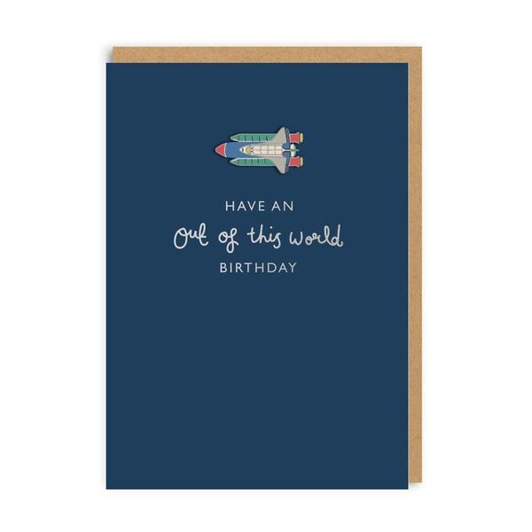 Have An Out Of This World Birthday Enamel Pin Card
