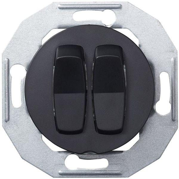 Schneider Electric Renova WDE011206 Vipukytkin ilman kehystä, musta 2-napainen