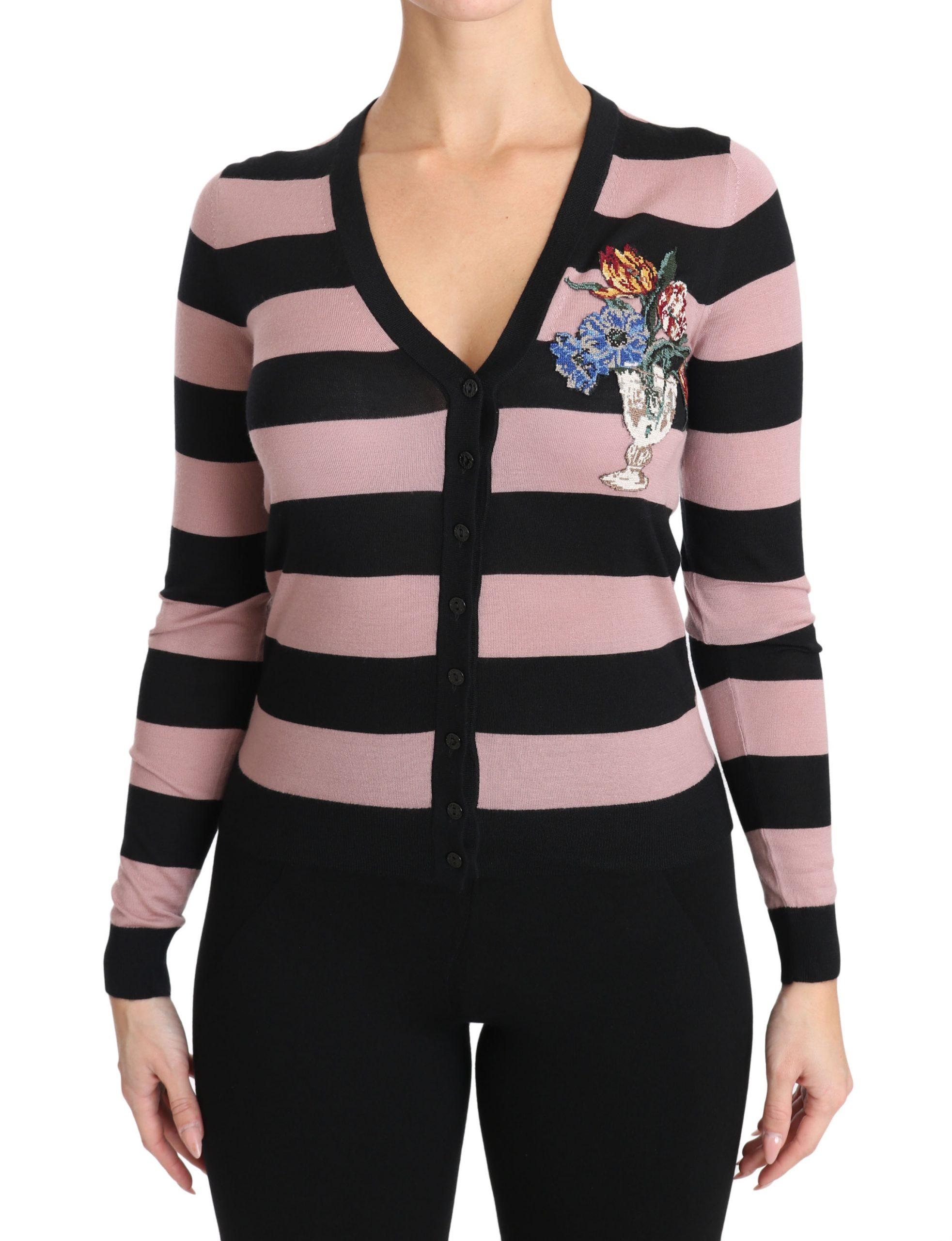 Dolce & Gabbana Women's Floral Cashmere Cardigan Grey TSH3130 - IT36 | XS