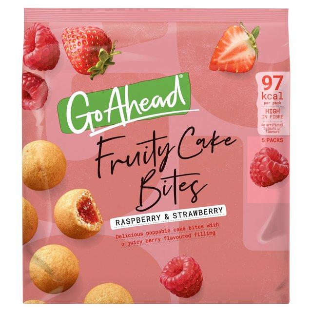 Go Ahead Fruity Cake Bites Raspberry & Strawberry 136g