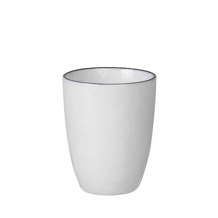 Espressokrus Salt 10 cl Hvit med Svart Kant