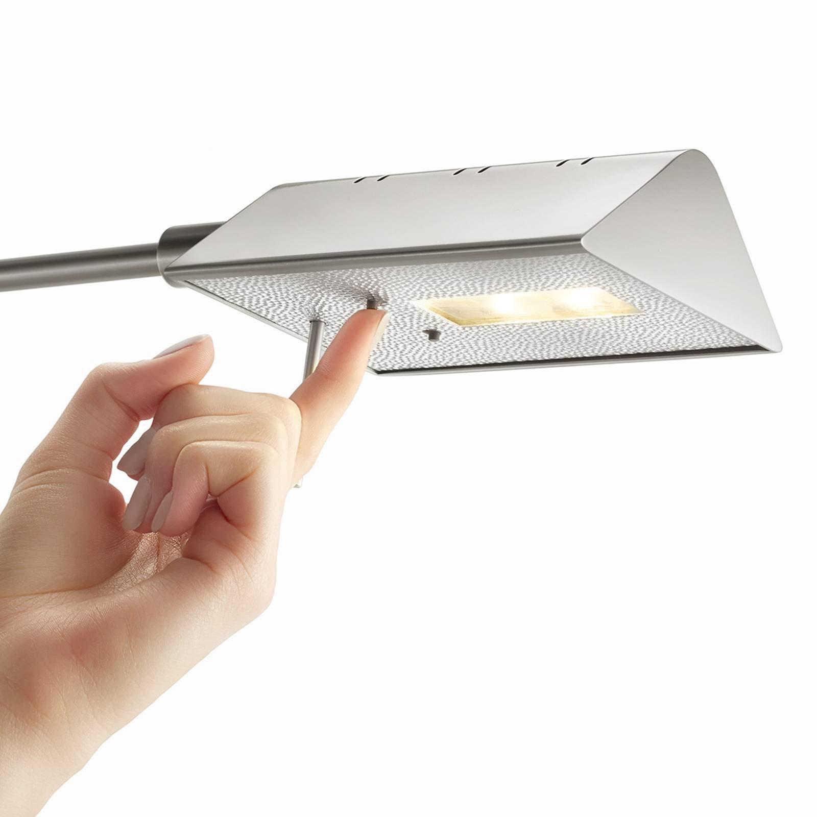 Danuta justerbar LED-gulvlampe, matt nikkel