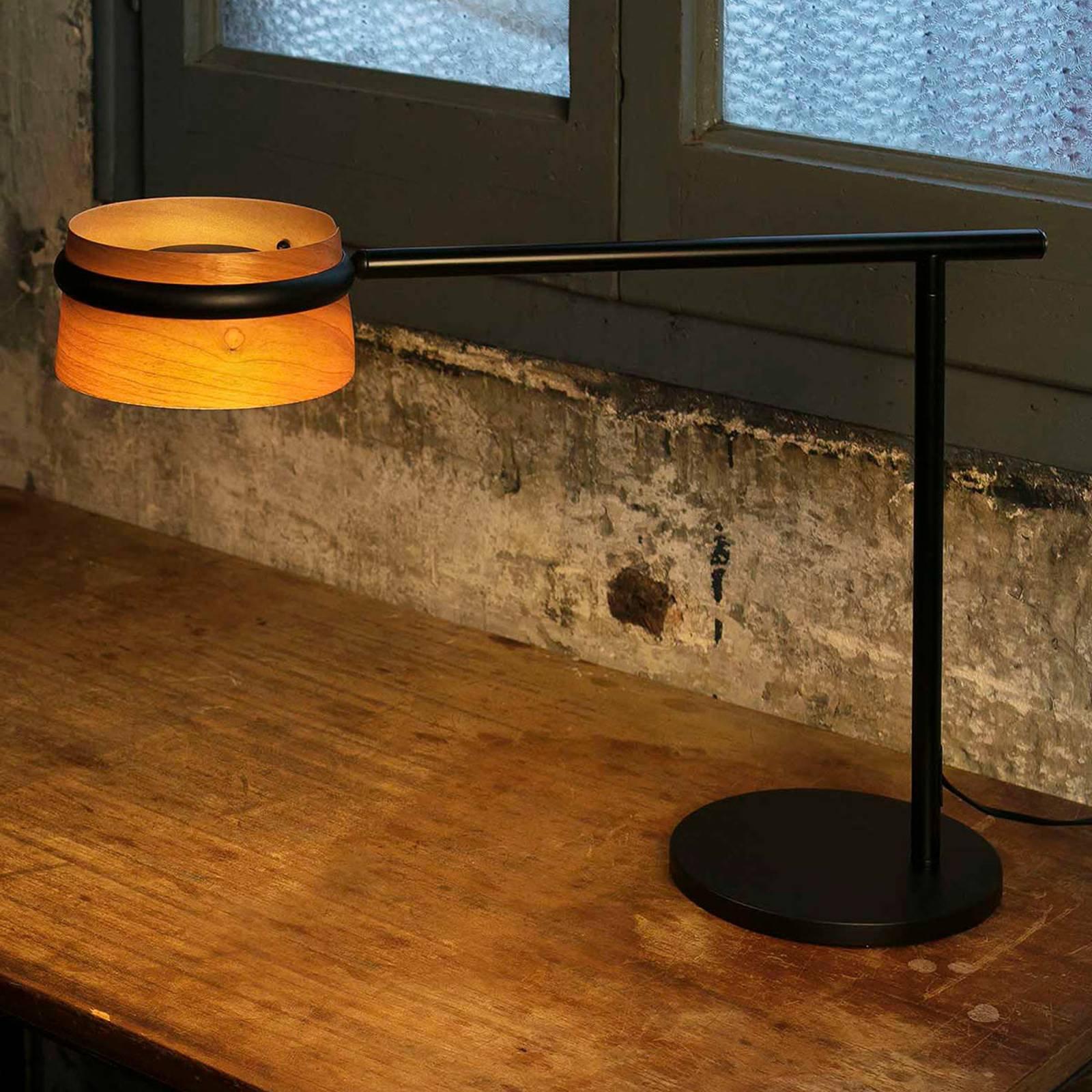 Dimbar LED-bordlampe Loop med treskjerm
