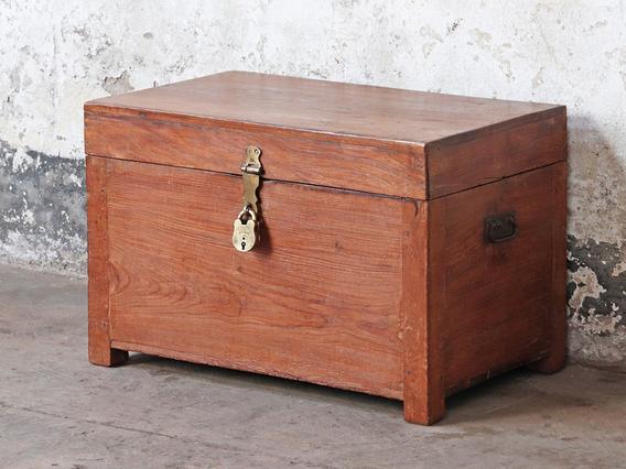 Wooden Storage Chest Brown