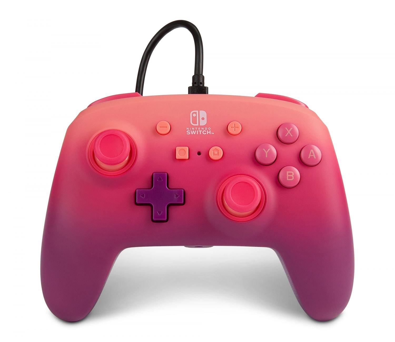 PowerA Nintendo Switch Enh Wired Controller - Fuchsia Fantasy