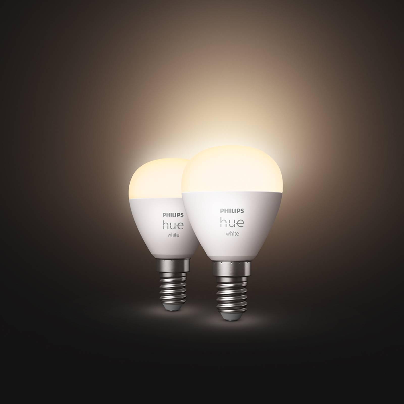 Philips Hue White LED-golfpallolamppu 2 x E14 5,7W
