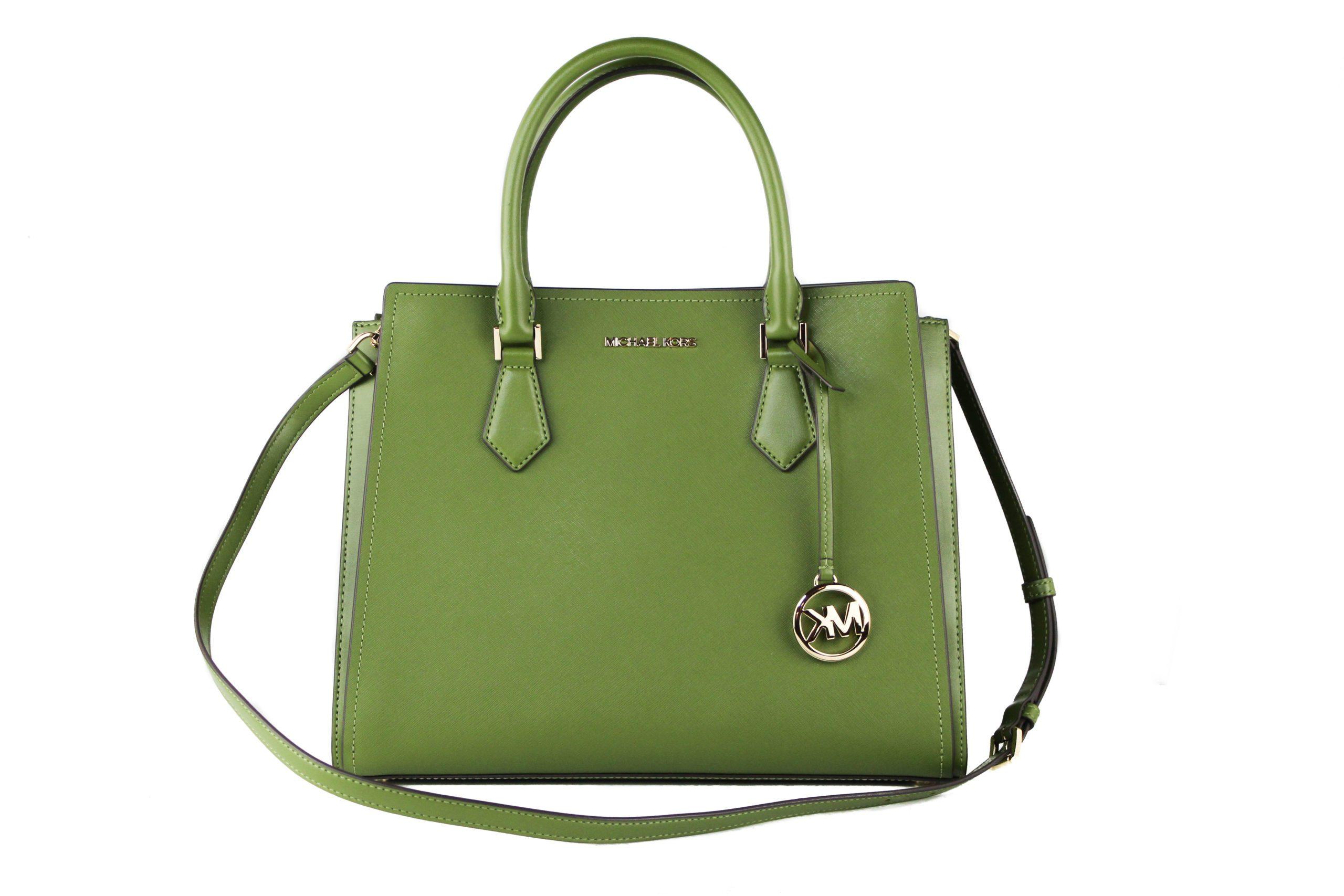 Michael Kors Women's Hope Satchel Bag Green 98336