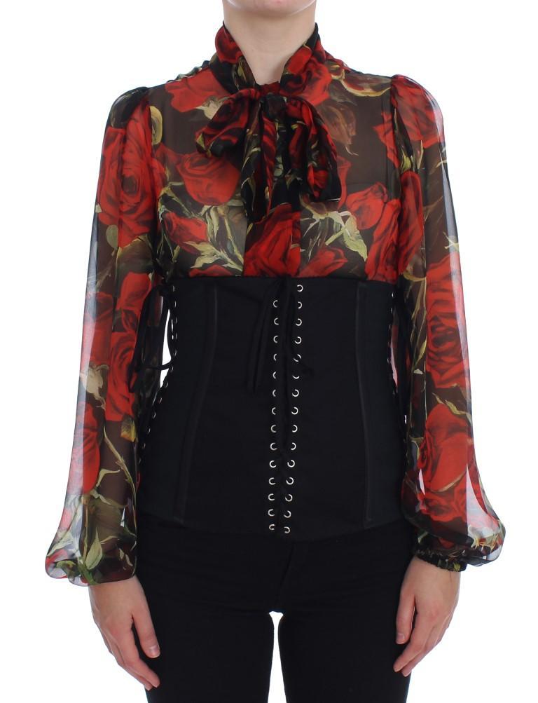 Dolce & Gabbana Women's Stretch Waist Strap Corset Belt Black SIG20139 - IT42|M