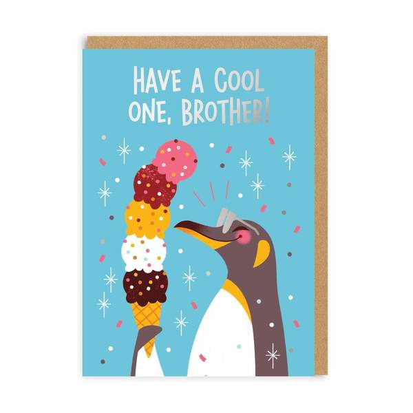 Brother Have A Cool One Birthday Greeting Card