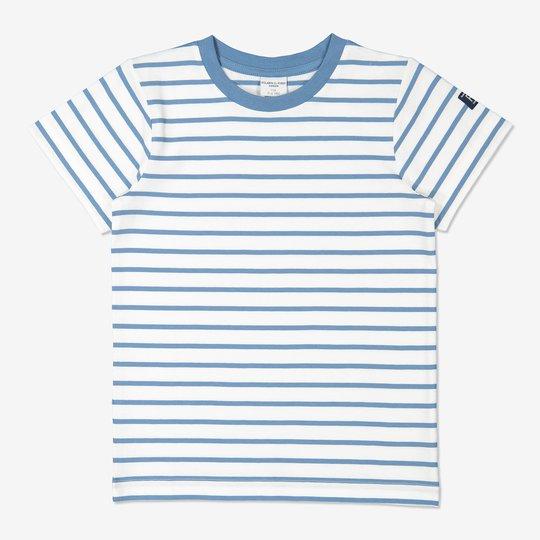 Stripet T-skjorte blå
