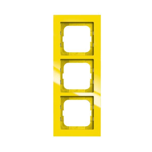 ABB Axcent Yhdistelmäkehys keltainen 3-paikkainen