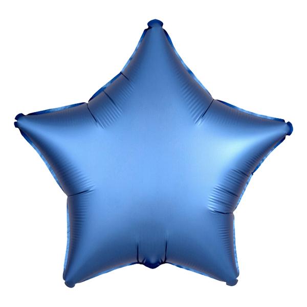 Folieballong Stjärna Satin Azurblå