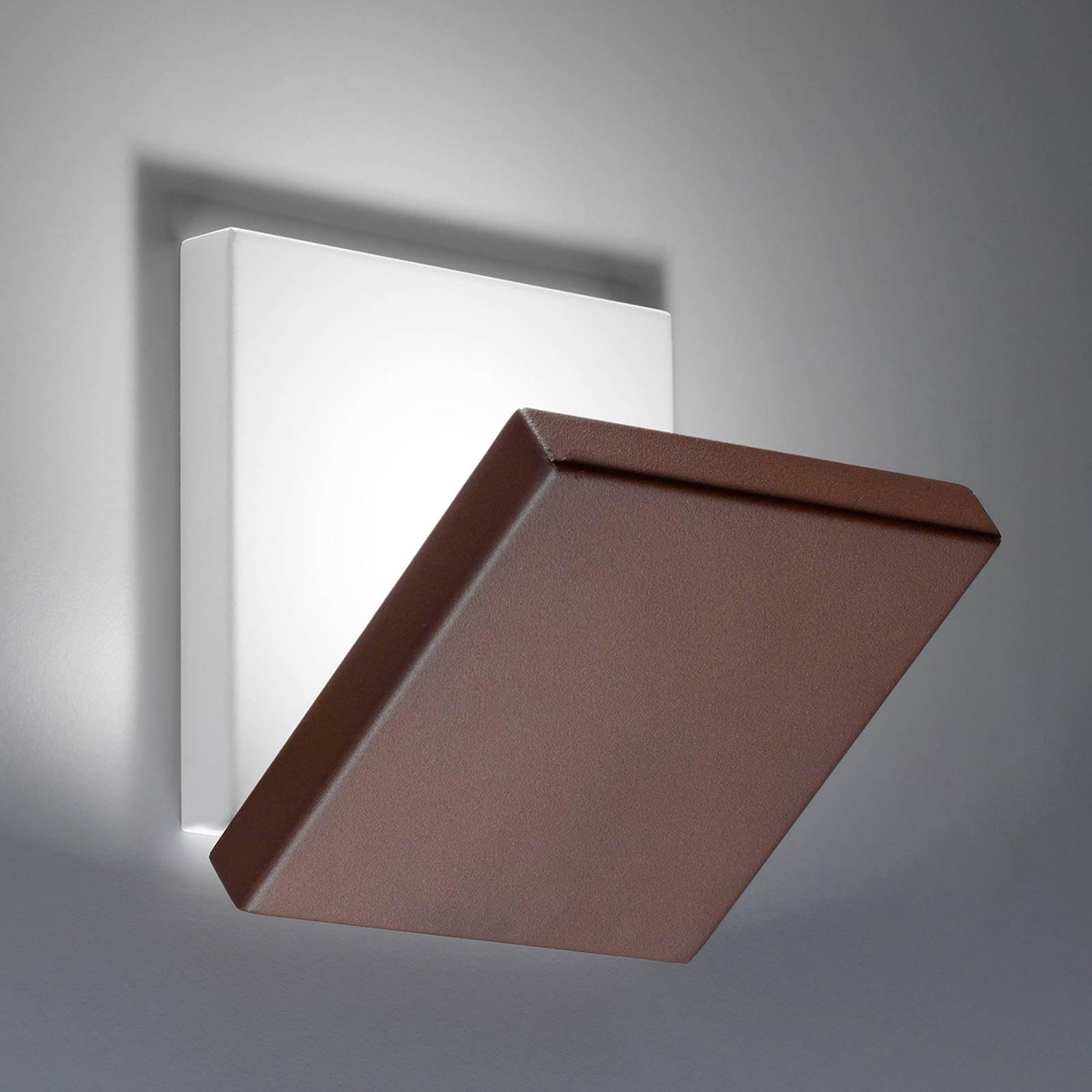 Foldbar LED-vegglampe Spy med brun front