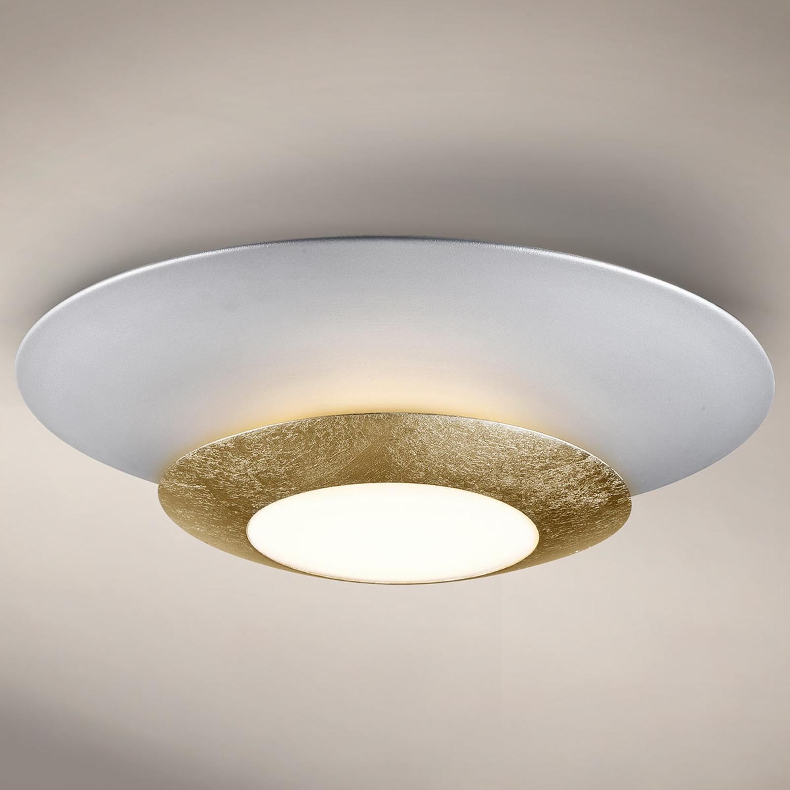 Pyöreä LED-kattovalaisin Hole, kultainen kalvo