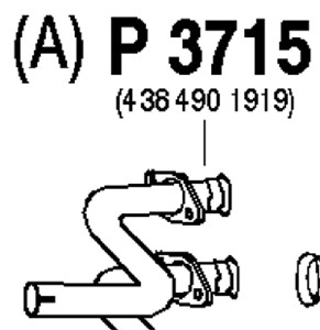 Pakoputki, Keskellä, MERCEDES-BENZ VITO Buss [638], VITO Skåp [638], V-KLASS [638/2], (6384901919)