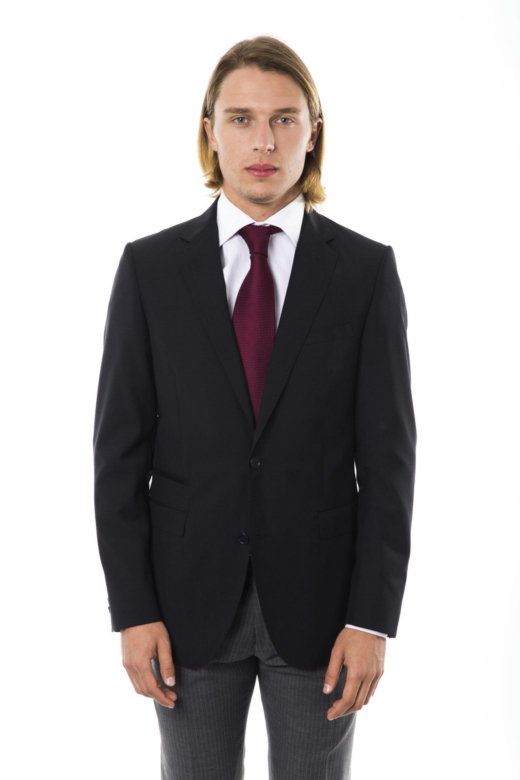 Uominitaliani Men's U Blazer Black UO997270 - IT46   S