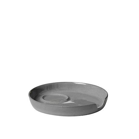 Tisvilde Fat til Espresso-/Eggeglass Grå Porselen