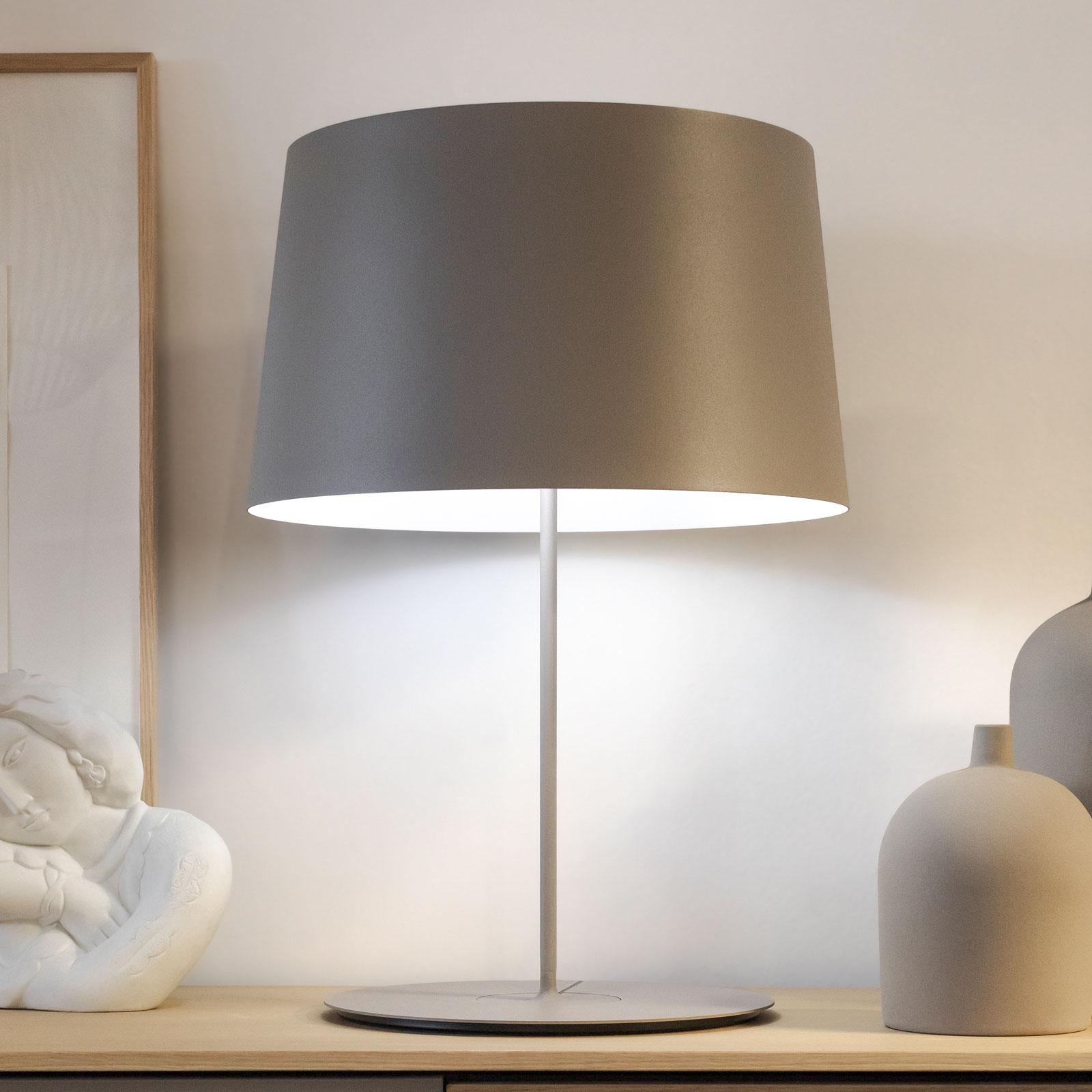 Vibia Warm 4901 pöytälamppu, Ø 42 cm, beige