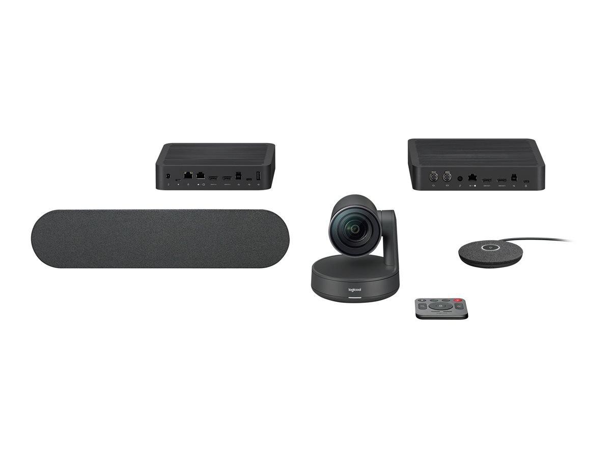 Logitech - Rally Ultra-HD ConferenceCam kit - BLACK