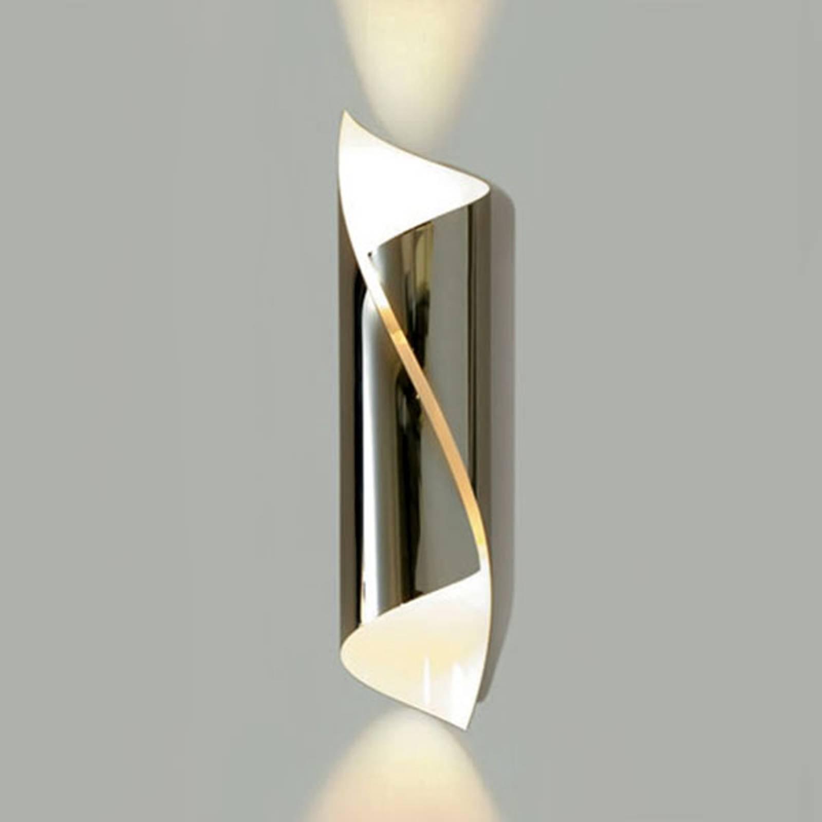 Knikerboker Hué LED-vegglampe høyde 54 cm krom