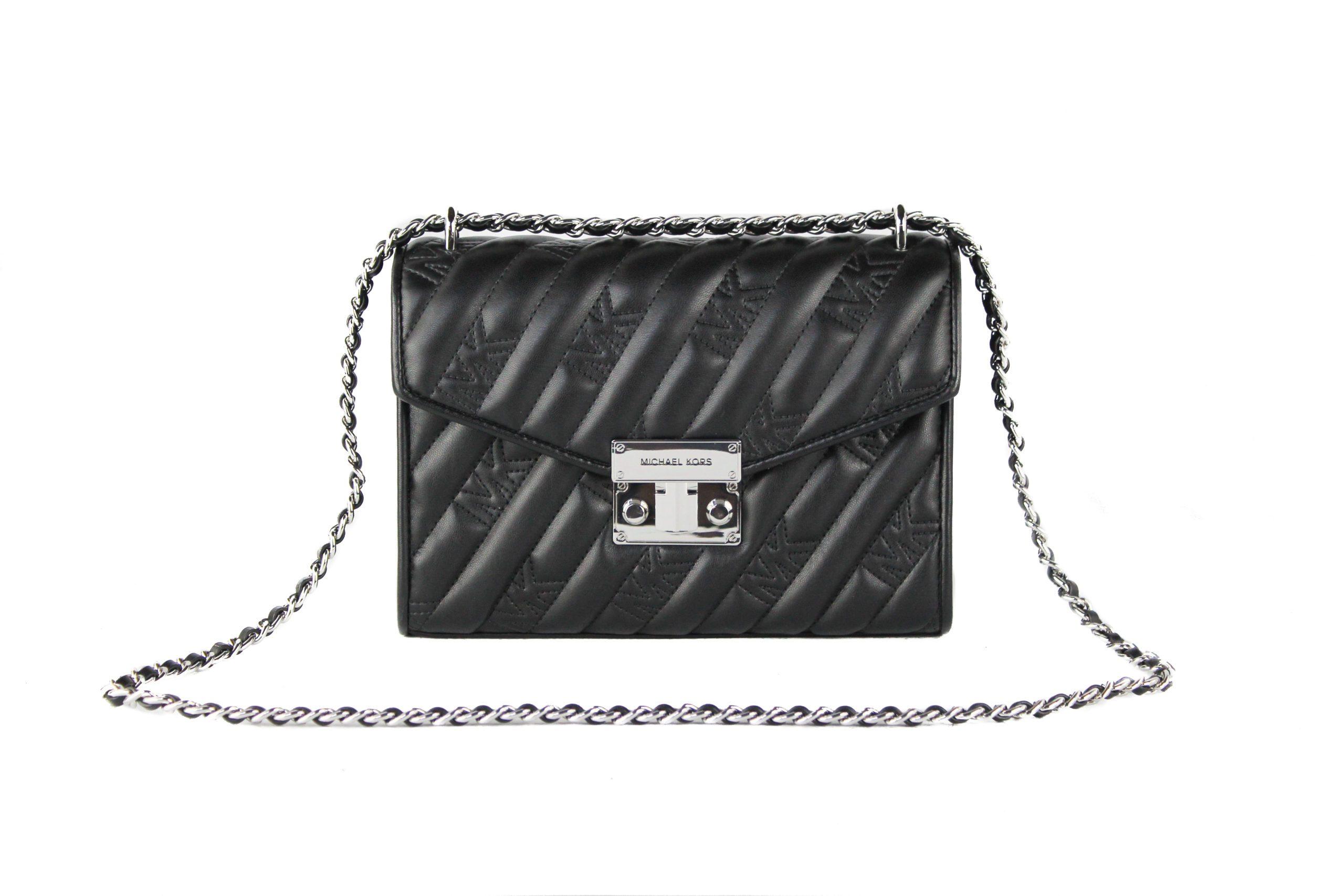 Michael Kors Women's Rose Vegan Shoulder Bag Black 61299