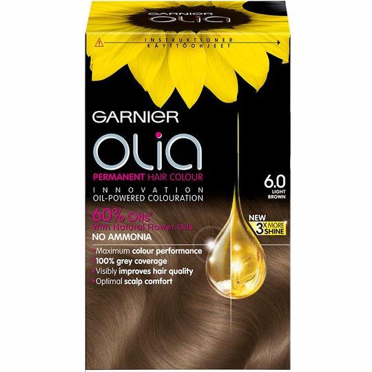 Garnier Olia Permanent Hair Colour, 6.0 Light Brown, Garnier Hiusvärit