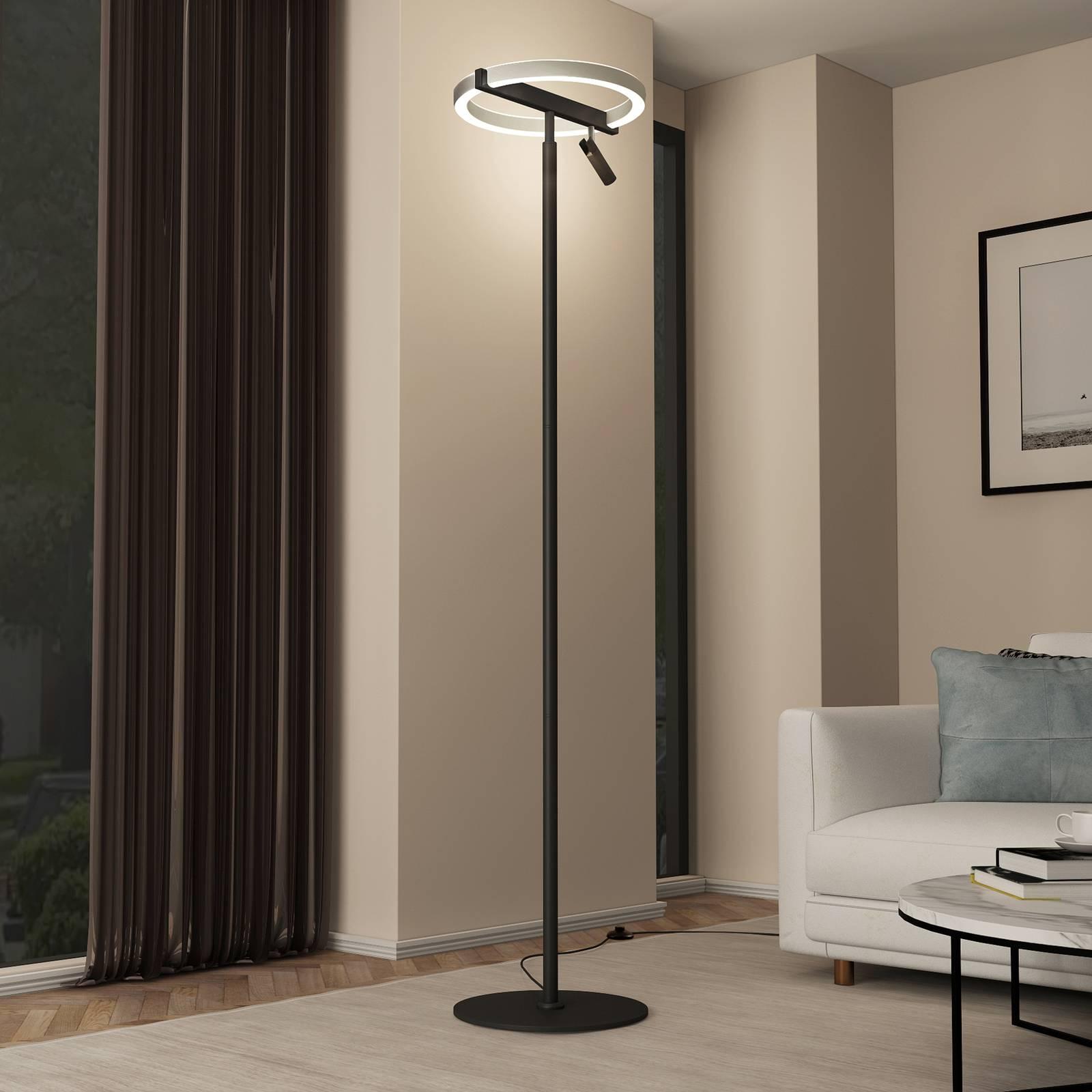 Lucande Matwei -LED-lattiavalo, pyöreä, nikkeliä