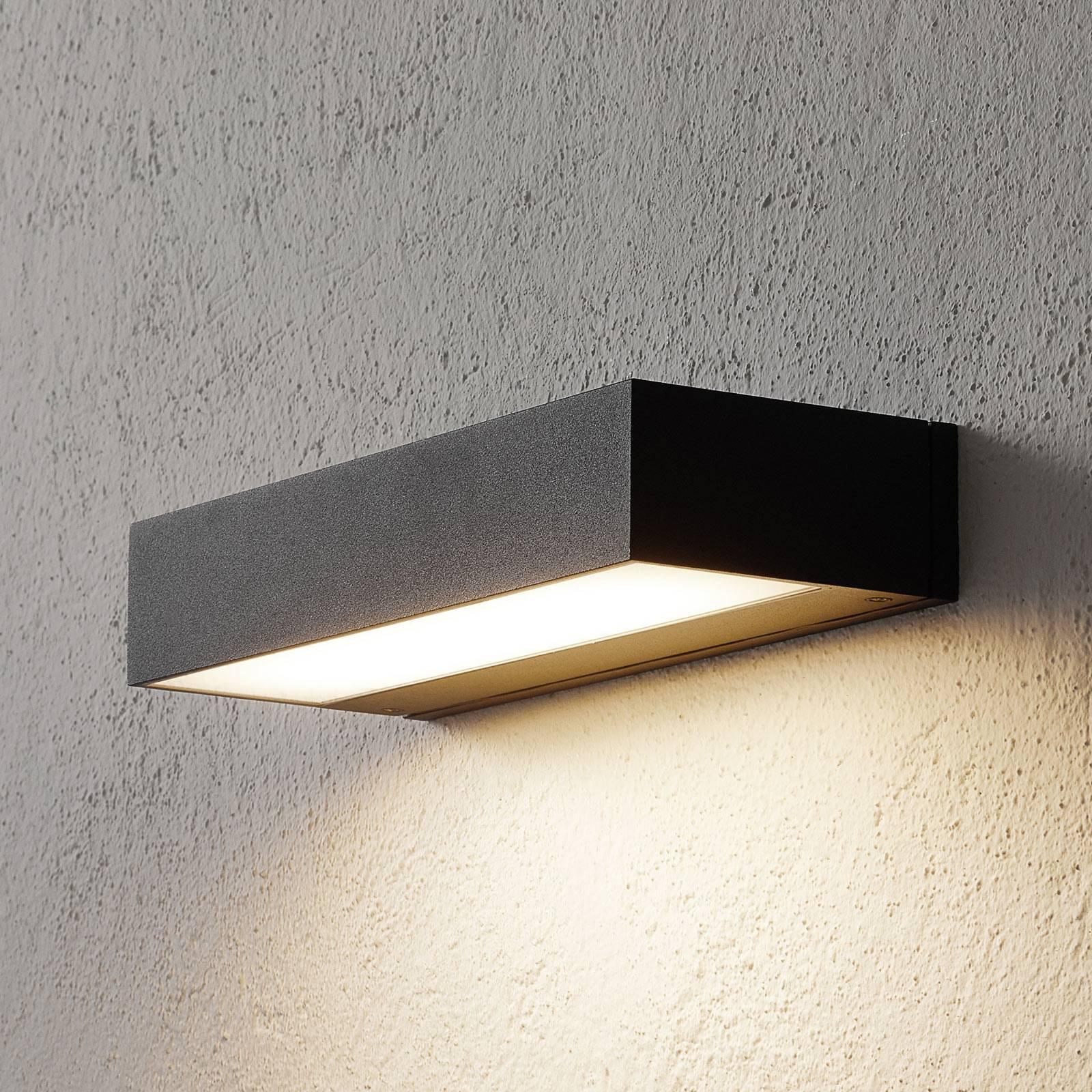 BEGA 33329 LED-vegglampe, 3000K 30 cm down grafitt