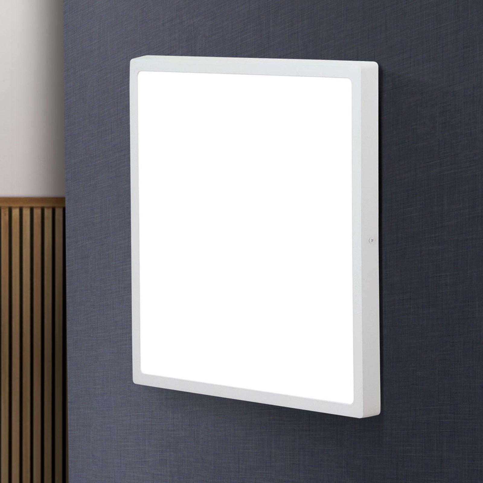 Kantet LED-taklampe Lero - 40 x 40 cm