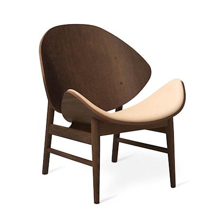 The Orange Lounge Chair S Nude Läder Smoked Ek