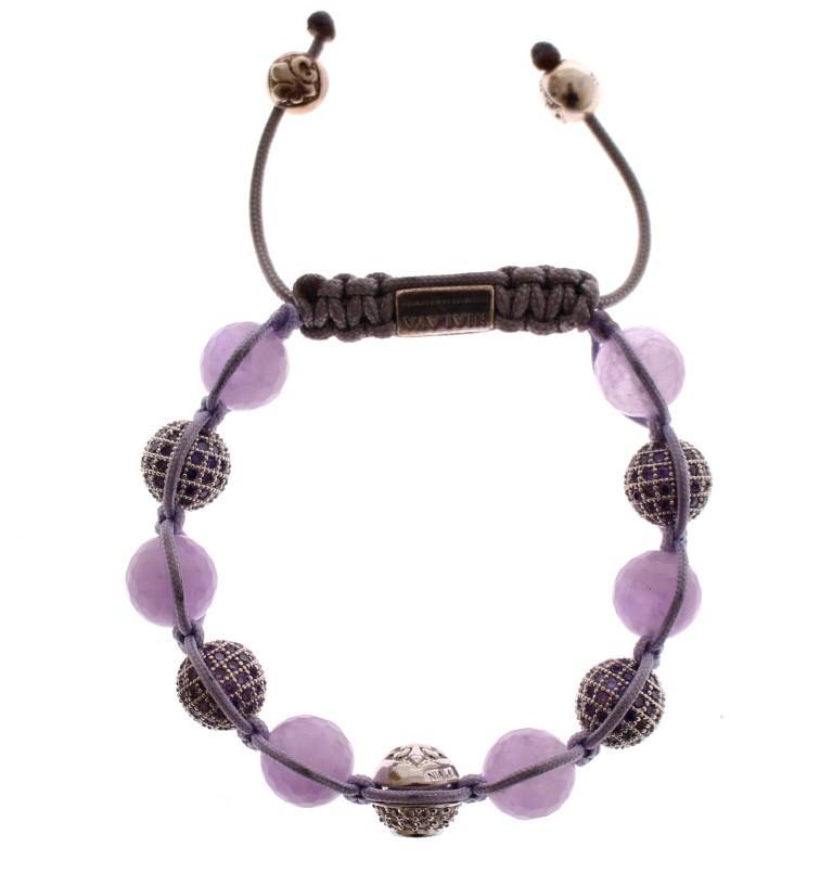 Nialaya Women's Amethyst 925 Sterling Silver Bracelet Purple NIA10031 - S