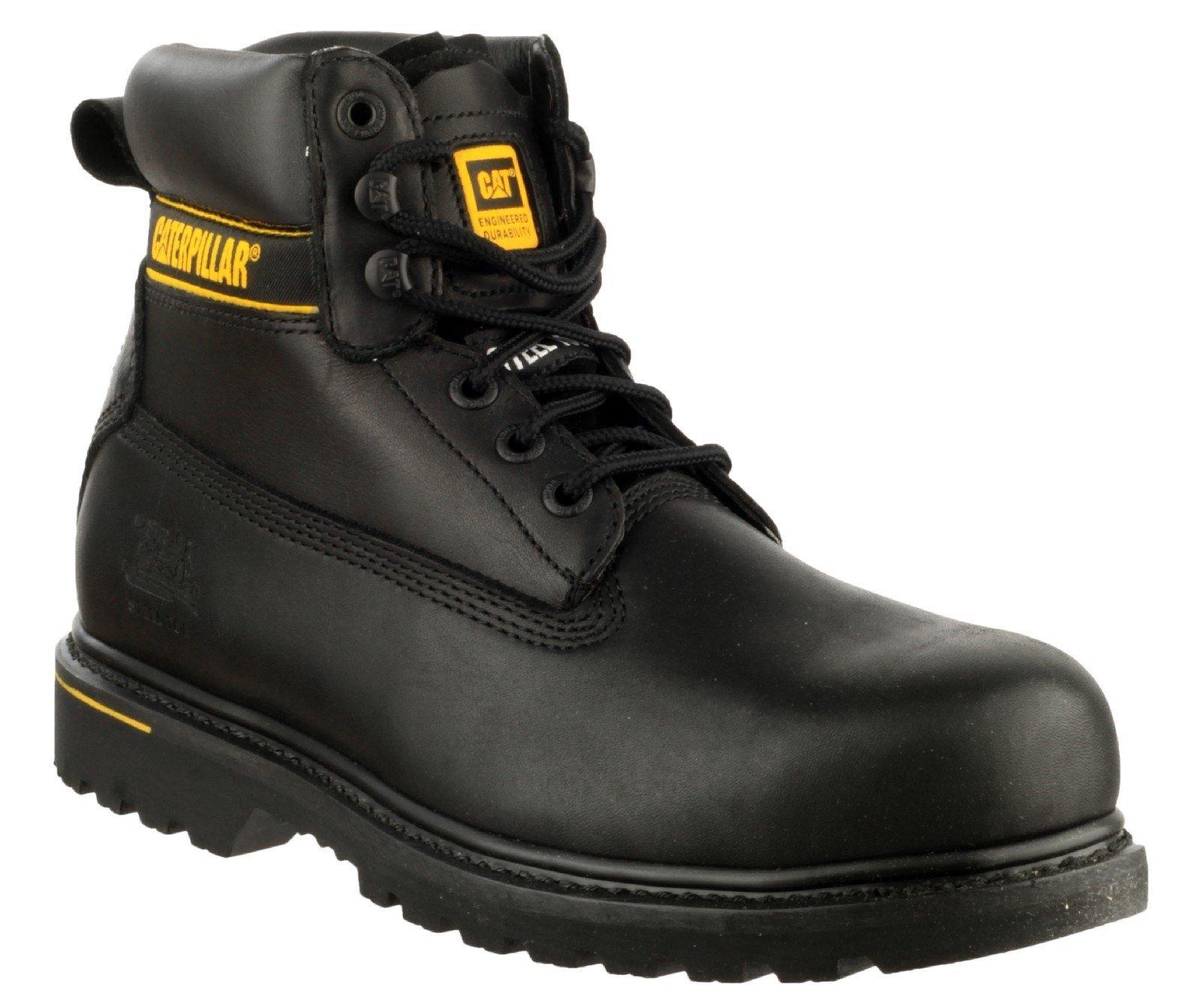 Caterpillar Unisex Holton Safety Boot Black 16105 - Black 14