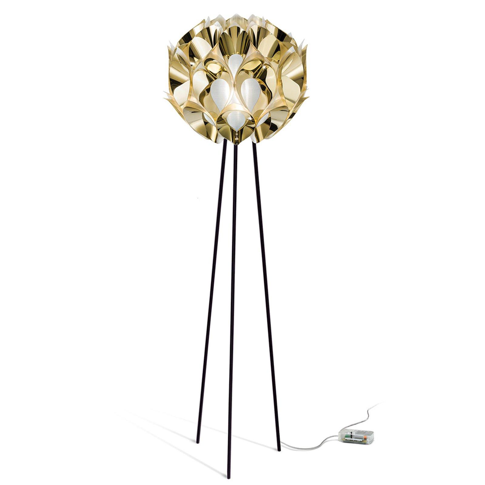Fortryllende stålampe Flora i gull