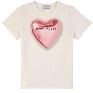 The Marc Jacobs Heart Baloon T-shirt Vit 2 år