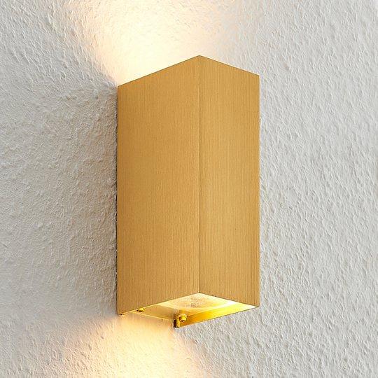 Arcchio Maruba -seinävalaisin, 2-lamppuinen kulta