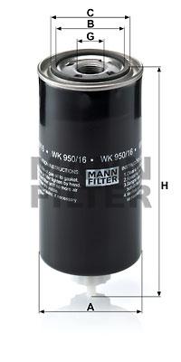 Polttoainesuodatin MANN-FILTER WK 950/16 x