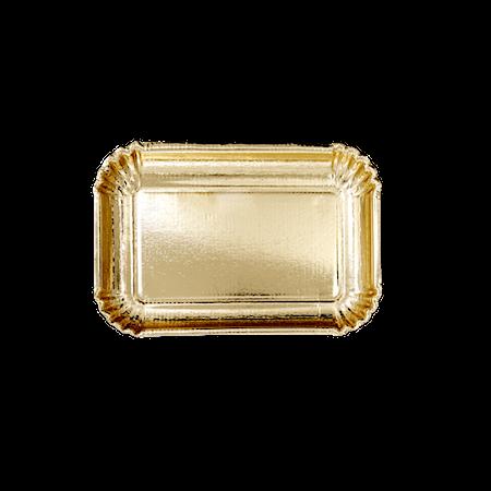 Papptallerkner 6-pakning 16,5x24 cm Gull