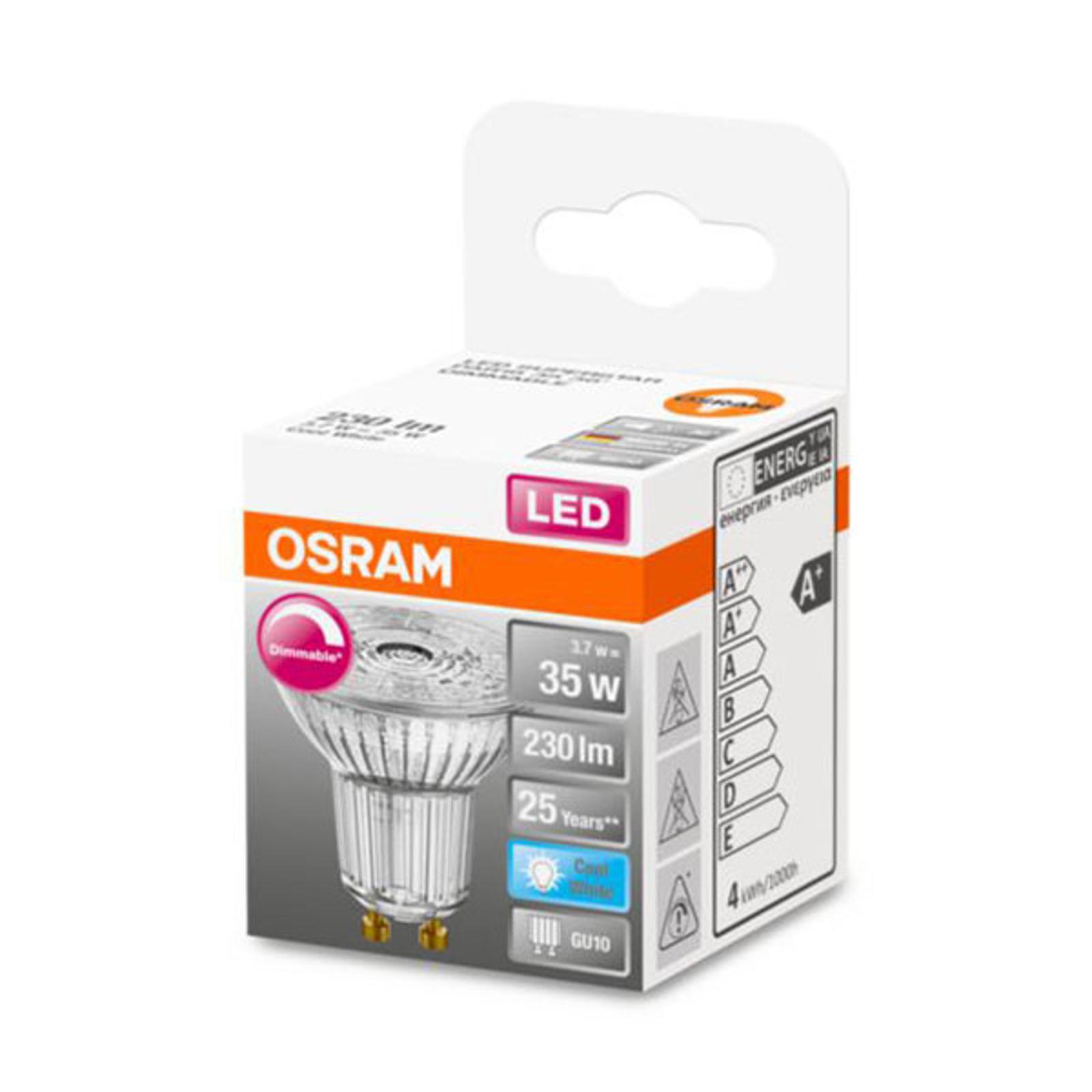 OSRAM-LED-lasi-heijastin GU10 3,7W 940 36° dim