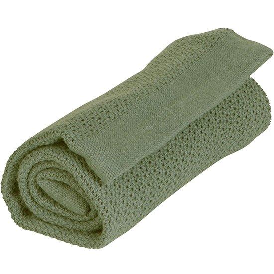 Vinter & Bloom - Filt Soft Grid Blanket ECO - Forest Green