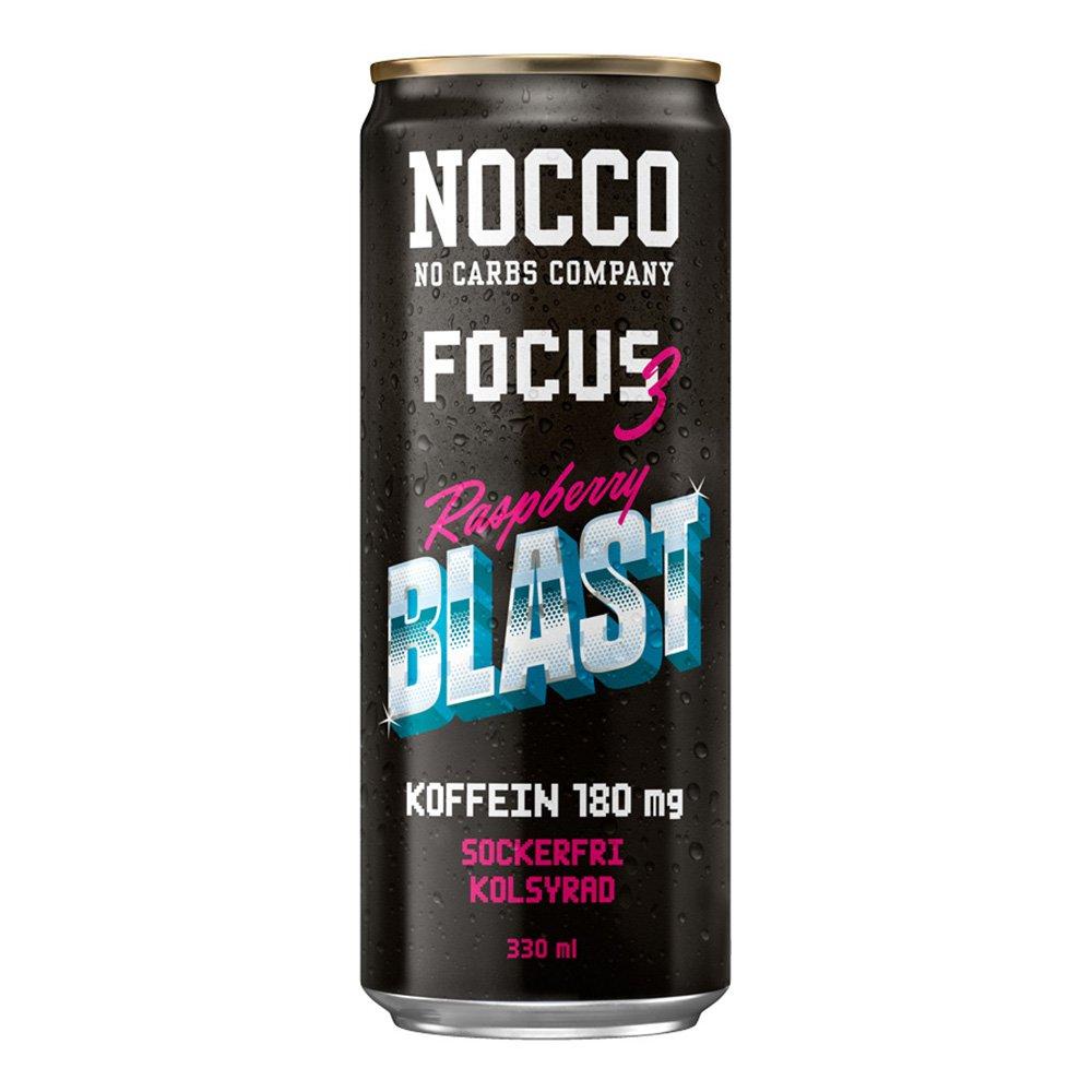 Nocco Focus 3 Raspberry Blast - 1-pack