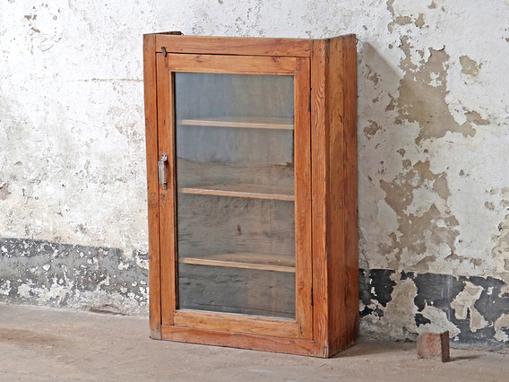 Wooden Display Cabinet Brown