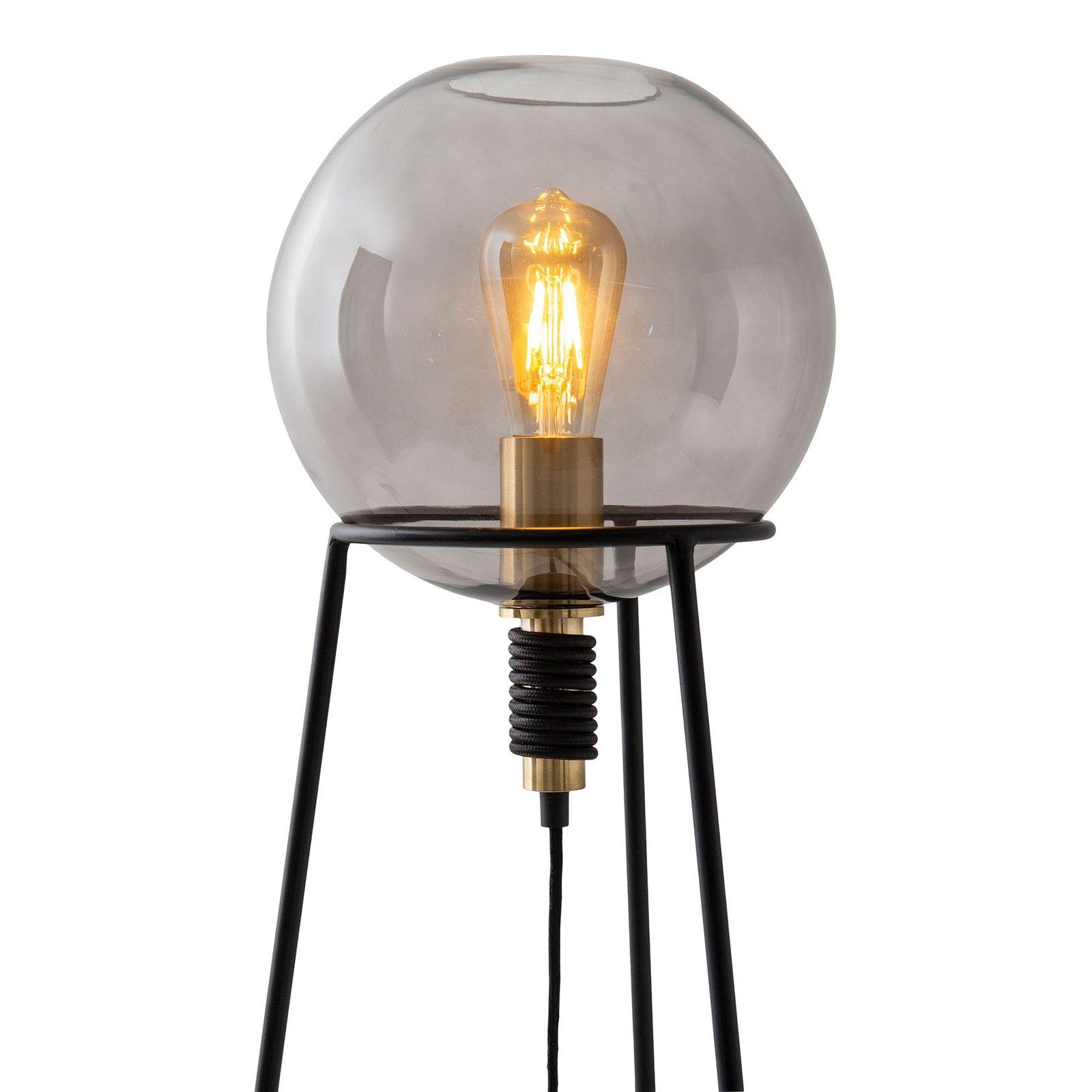 Stelo bordlampe med glasskule-skjerm