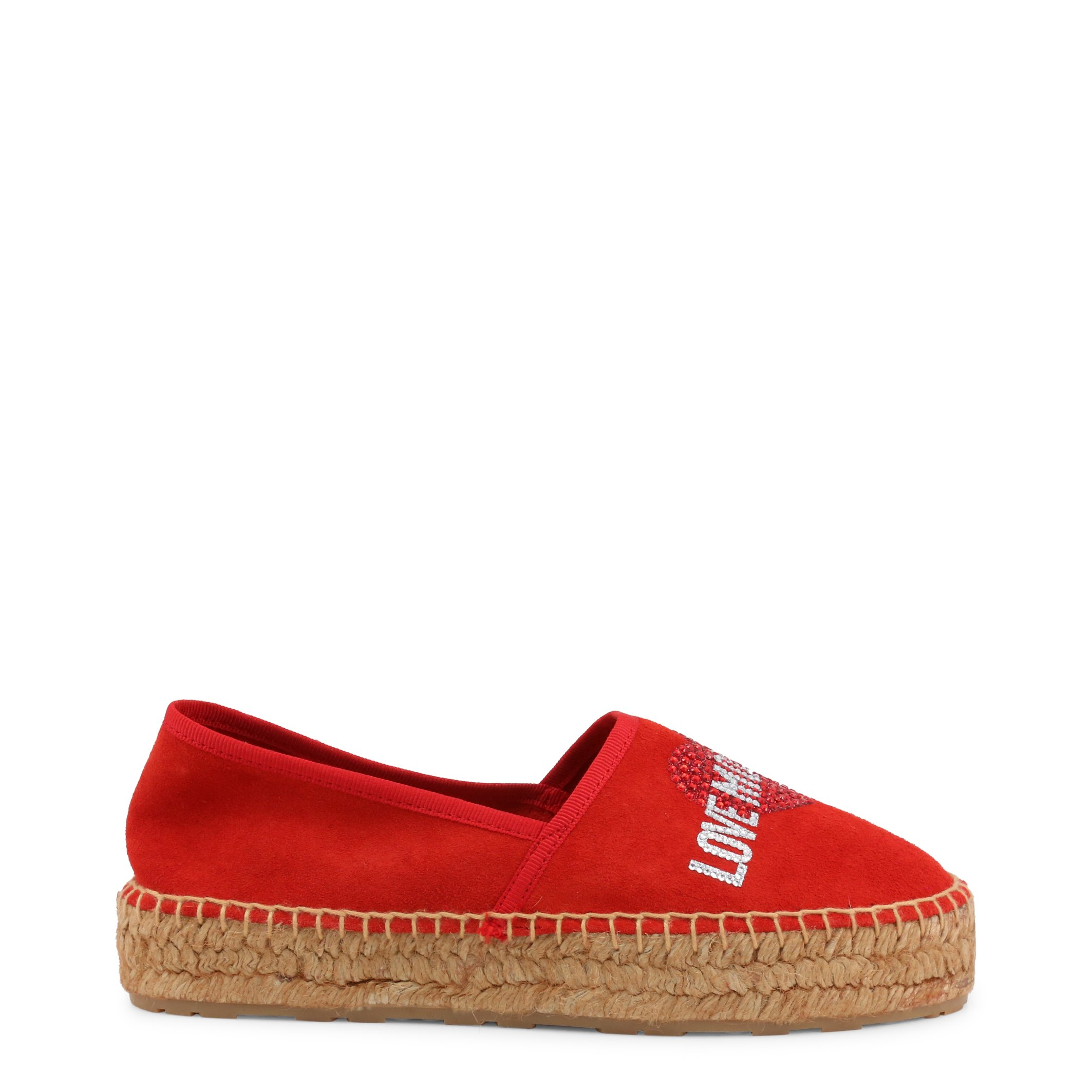 Love Moschino Women's Slip On Shoes Grey JA10023G1CIF0 - red EU 35