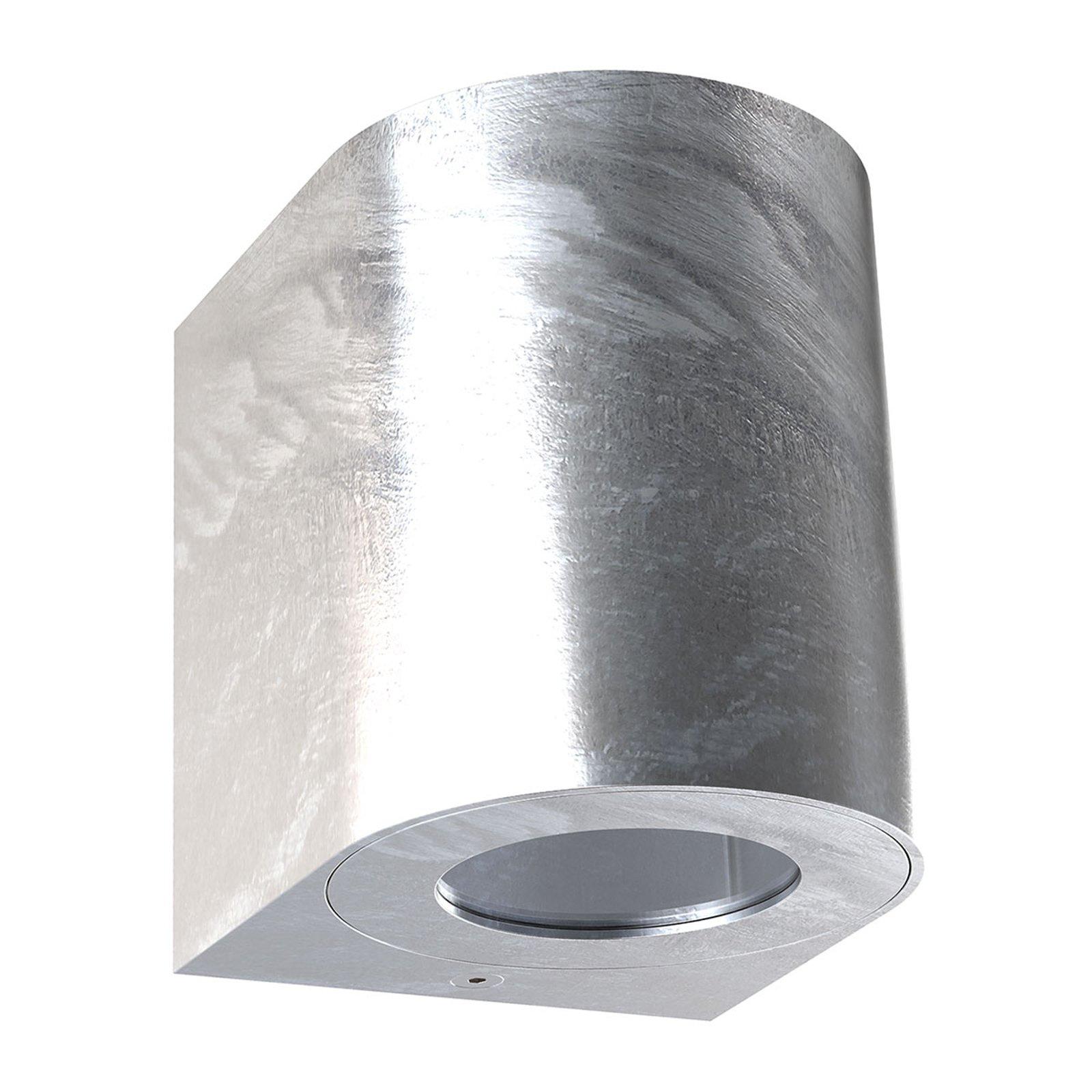 Utendørs LED-vegglampe Canto 2, 10 cm, galvanisert